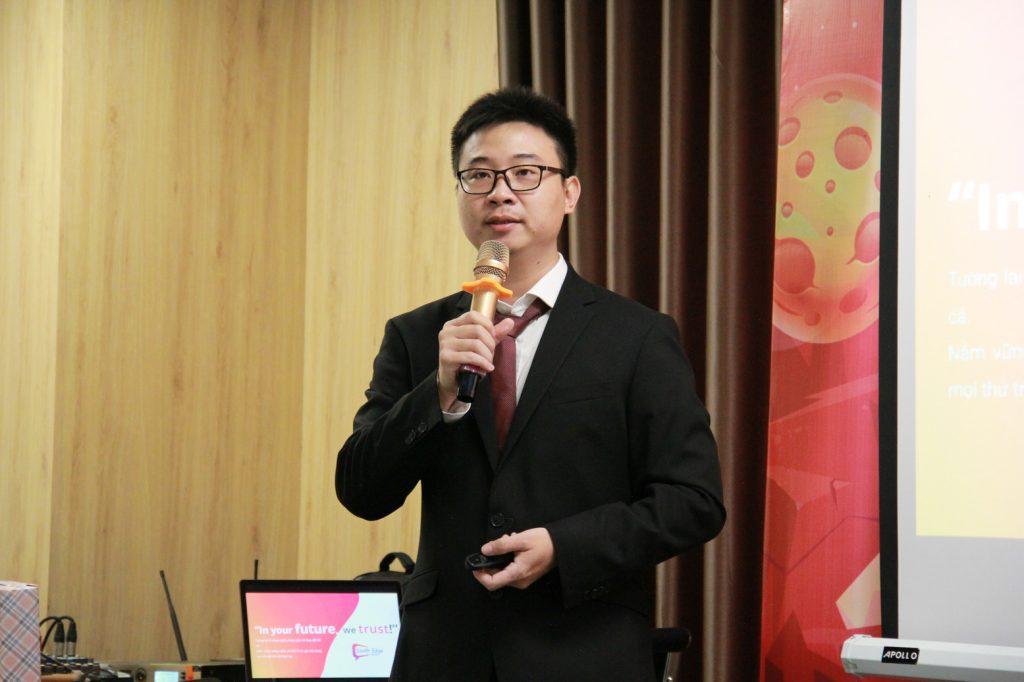 Văn hóa doanh nghiệp tại South Edge được anh Laevis Nguyễn truyền tải thông qua sự kiện