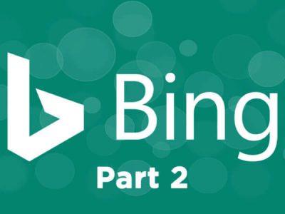 Bing Webmaster Tools – Part 2 -1